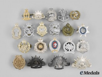 Australia, New Zealand. A Lot of Twenty Cap Badges