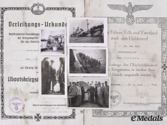 Germany, Kriegsmarine. Documents and Photographs, U-Boat Forces in Norway, Petersen Signed