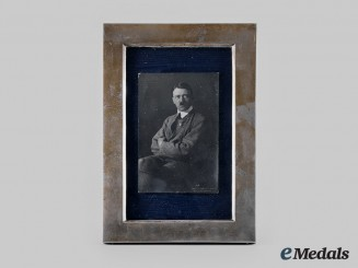 Germany, NSDAP. An Early Signed AH Studio Portrait in Period Silver Frame, by Hoffmann