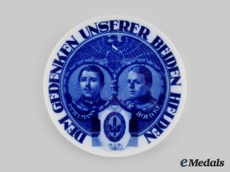 Germany, Imperial. A Max Immelmann and Oswald Boelcke Commemorative Plate, by Rosenthal
