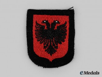 "Germany, SS. A 21st Waffen Mountain Division of the SS ""Skanderbeg"" Volunteer's Arm Shield"
