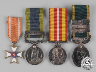 United Kingdom, Poland (Republic). A Lot of Four Miniature Medals
