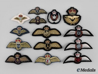 Canada, Commonwealth. A Lot of Fifteen Royal Canadian Air Force (RCAF) Badges