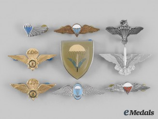 South Africa, Republic. A Lot of Nine South African Parachutist Badges