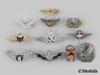International. A Lot of Eleven Parachutist Badges
