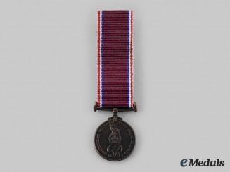 Newfoundland, Dominion. A Miniature Newfoundland Volunteer War Service Medal 1939-1945