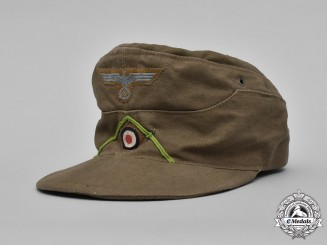 Germany, Heer. An Army Panzergrenadier Tropical M41 Field Cap, by Carl Halfar