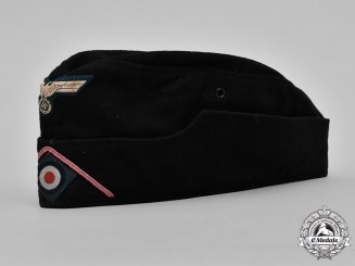Germany, Heer. An Army Panzer EM/NCO's M1940 Overseas Cap by Wolber & Pfaff