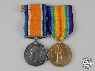 United Kingdom. A First War Medal Pair to Private G. A. Swaddling, A.S.C.