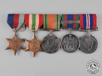 Canada. A Second War Veteran's Group of Five