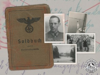 Germany, Heer. A Soldbuch & 7 Photos, 369th (Croatian) Infantry Division, Iron Trefoil Recipient