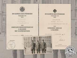 Germany, Heer. A Collection Of Documents To Artillery Obergefreiter Wilhelm Meier