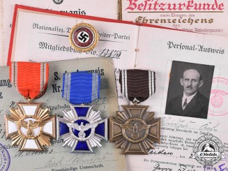 Germany, Third Reich. A Group of NSDAP Awards and Documents to Karl Waidhas