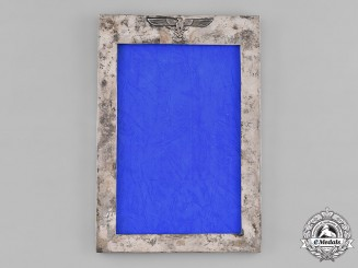 Germany, Third Reich. A Wehrmacht Field Marshal's Silver Picture Frame, by Zeitner, Berlin