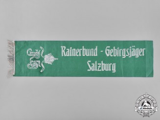 Austrian, Republic. A Rainerbund-Gebirgsjäger Salzburg Banner Commemorating Infantry Regiment 59