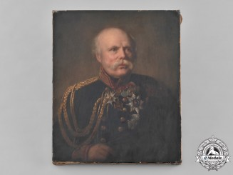 Hannover, Kingdom. A Fine Period Oil Painting of General Sir Julius von Hartmann, c.1840