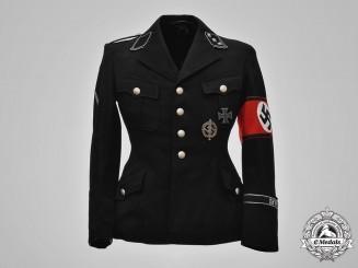 Germany, SS. A Reichsführer-SS Personnel Staff Sturmführer Tunic with Ring of Paul Kümmel, by George Höcker