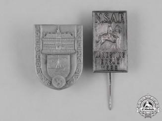 Germany, Third Reich. A Pair of Third Reich Stickpins