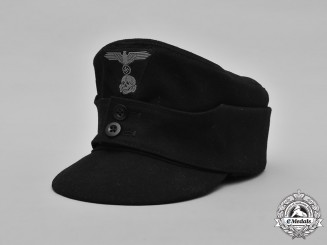 Germany, SS. A Late War Waffen-SS Panzer EM/NCO's M43 Field Cap