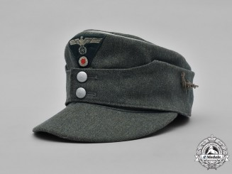 Germany, Heer. A Gebirgsjäger Officer's M43 Field Cap