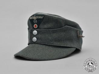 Germany, Heer. A Gebirgsjäger Officer's M43 Field Cap