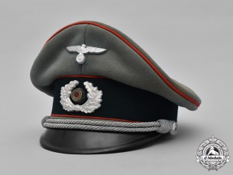 Germany, Heer. An Army Flak/Artillery Officer's Visor Cap