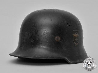 Germany, Ordnungspolizei. An Gendarmerie (Rural Police) M1934 Steel Helmet