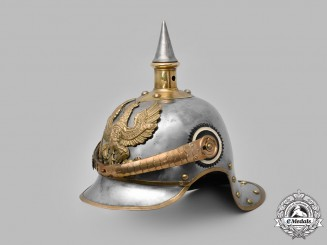 Prussia, Kingdom. An M1897 Kürassier Metal Helmet, III Squadron of Regiment No. 7