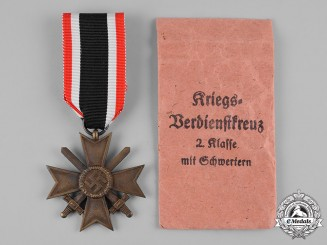 Germany, Wehrmacht. A War Merit Cross, II Class with Swords, by Frank & Reif