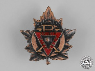 Canada. A YMCA Cap Badge with Spirit Body Mind/PX Design