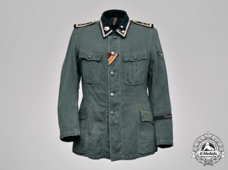 Germany, Waffen-SS. A SS Panzer Grenadier Regiment 6 Theodor Eicke Summer Field Blouse