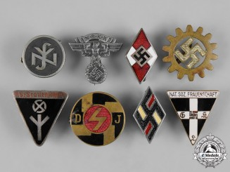Germany, Third Reich. A Lot of Third Reich Member's Badges
