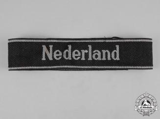 Germany, SS. A Waffen-SS Freiwilligen Nederland Cuff Title