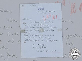 Germany, NSDAP. A Letter To A.H. From Wife Of Baldur Von Schirach, 1939
