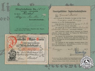 Germany, Heer. Three Documents Belonging to Generalfeldmarschall Wilhelm Keitel
