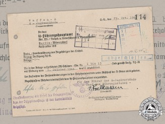 Germany, SS. A Rehabilitation Letter Signed by SS-Hauptsturmführer & Brandenburger Adrian von Foelkersam (KC, KIA)