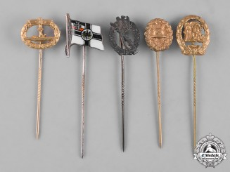 Germany, Third Reich. A Lot of Second War Period Miniature Stickpins