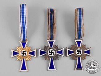 Germany, Third Reich. A Group of Honour Crosses of the German Mother, Various Grades