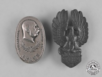 Austria-Hungary, Imperial. A Pair of 1st Army Cap Badges