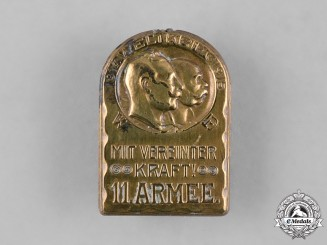 Austria-Hungary, Imperial. An 11th Army Cap Badge, by Gurschner