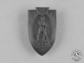 Austria-Hungary, Imperial. A 38th Storm Battalion Cap Badge, by Arcanzas, c.1917