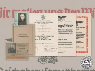 Germany, Wehrmacht. A Lot of Documents Belonging to Werner Liedtke