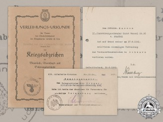 Germany, Kriegsmarine. A Lot of First and Second War Award Documents