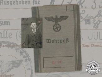 Germany, Heer. A Wehrpaß To Infantry NCO Hermann Kietz, KIA In The East