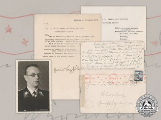 Germany, NSDAP. Correspondence Of Widow Of Executed Seyß-Inquart, And Propaganda Photo