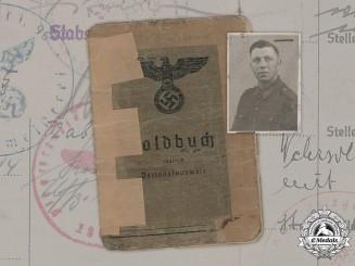 Germany, Heer. The Soldbuch Of Construction NCO In Norway Under Allied Control, Kurt Neumann (EK2 In July 1945)