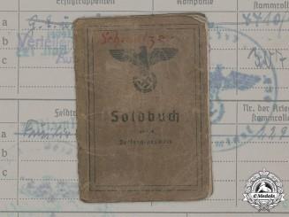 Germany, Heer. A Soldbuch To Obergefreiter Jakob Schmelzer (EK2, WIA)