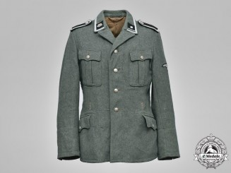 Germany, SS. A Death Head Unit SS-Scharführer Service Tunic and Side Cap