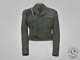 United States. The Air Medal and Army Officer's Ike Jacket of First Lieutenant Kohn, 426th Night Fighter Squadron, USAAF
