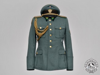 Germany, Ordnungspolizei. A Rare Police Generalmajor  Visor, Tunic, and Trousers, by Hans Klee, c.1941